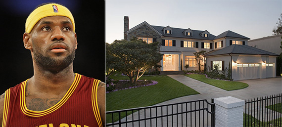 LeBron James and his new Brentwood mansion