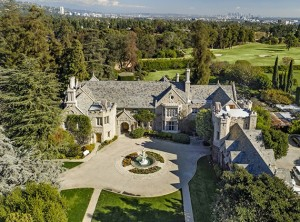 An ariel view of the Playboy Mansion