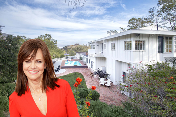 Sally Field and her former Malibu mansion