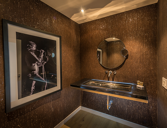 The powder room inside the house at 9306 Warbler Way