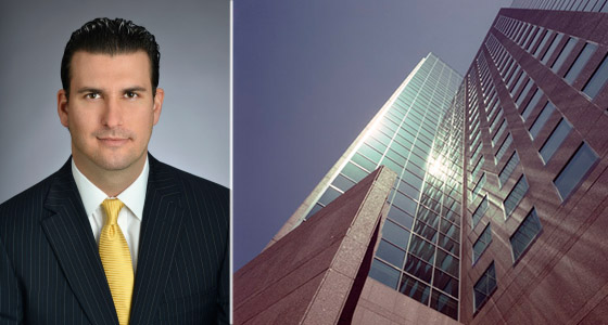Gustavo Boros and the Center West tower in Westwood