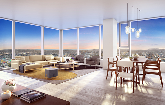 A rendering of the Metropolis project in Downtown L.A.
