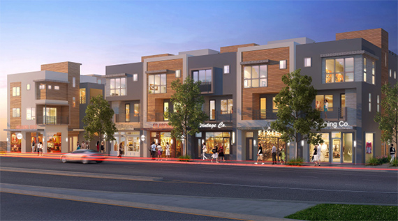 An early rendering of the Eagle Rock homes (subject to change)