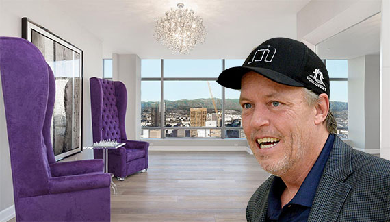 Jim Buss and his Downtown LA apartment