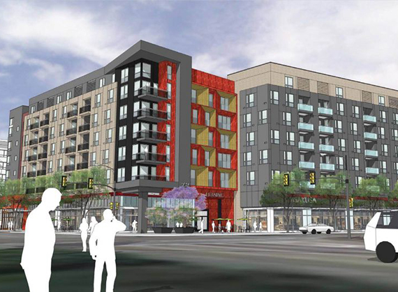 A rendering of the Little Tokyo project
