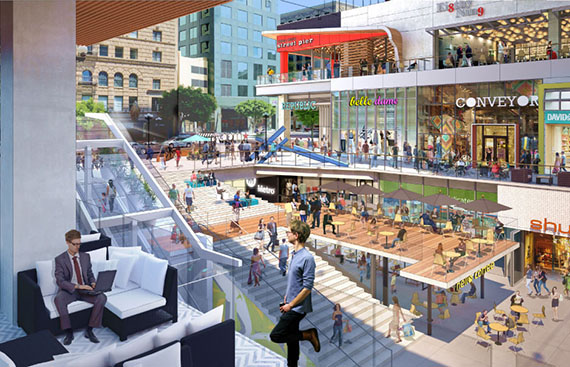 A rendering of the Bloc