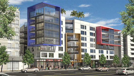 A rendering of the Figueroa project