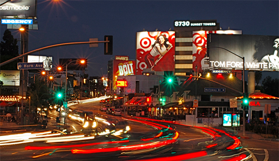 The Sunset Strip in West Hollywood