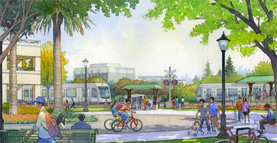 Rendering of Monrovia Station (credit: Foothill Gold Line)