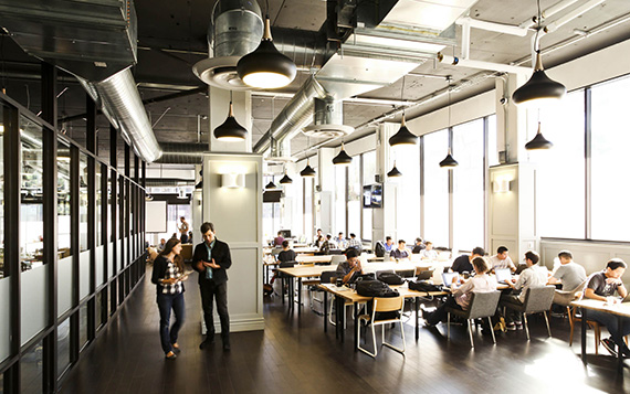 A WeWork co-working facility