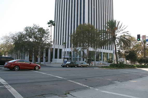 The Wilshire Boulevard office tower