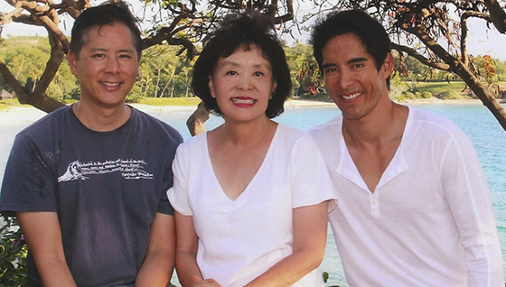 From left: Brent and Linda Chang of Compass; Blair Chang of the Agency