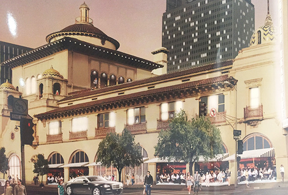 Rendering of the updated building at 1111 South Broadway