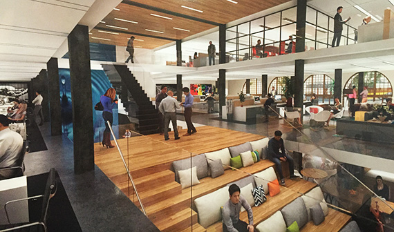 Rendering of the creative office conversion