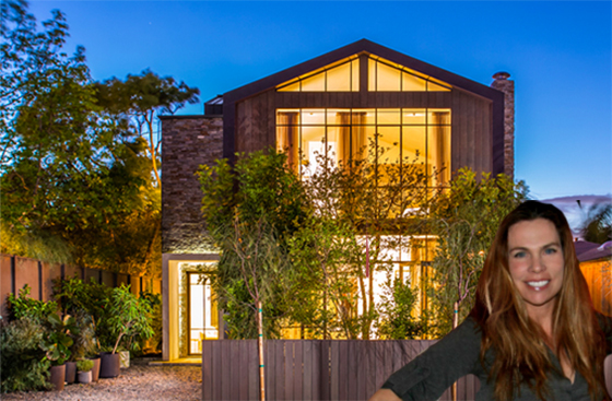 Kim Gordon and the house she designed and built at 657 Milwood Avenue in Venice