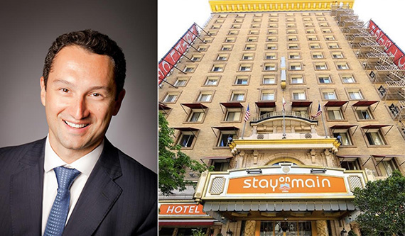Matthew Baron and the Stay on Main hotel