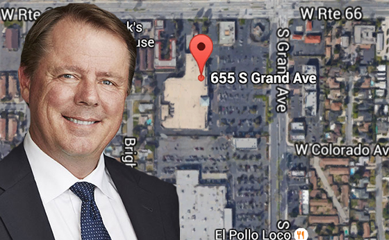 Chris Wilson of Champion Real Estate and the site at 655 South Grand Avenue in Glendora
