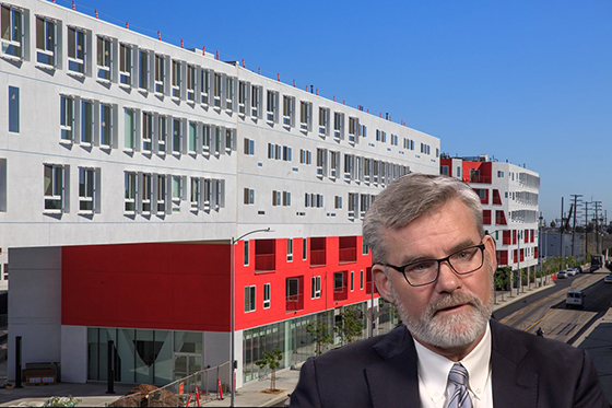 The One Santa Fe Complex at 300 South Santa Fe Avenue in the Arts District, and Berkshire Group CEO Chuck Leitner