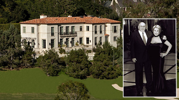 Melvin and Bren Simon and their Bel Air estate at 10664 Bellagio Road, which recently sold for $35M