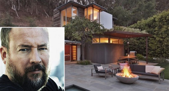 Shane Smith and his new home on Greentree Road in the Pacific Palisades (credit: theopenhouse via the MLS, Vice Media)