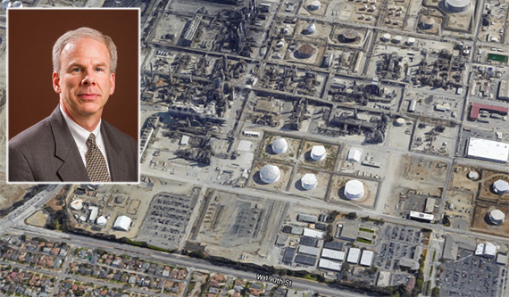 PBF's Jeff Dill and the oil plant in Torrance