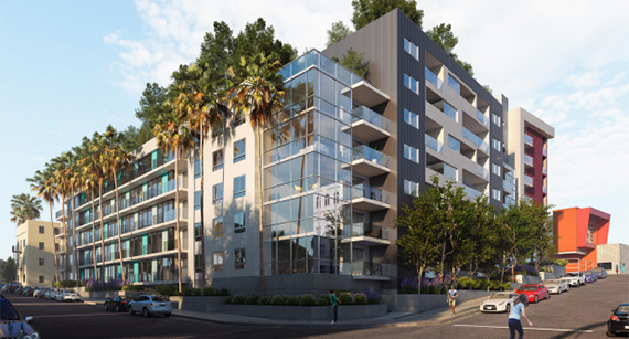 Rendering of the apartments at