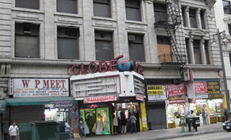 The Globe Theatre at 740 South Broadway