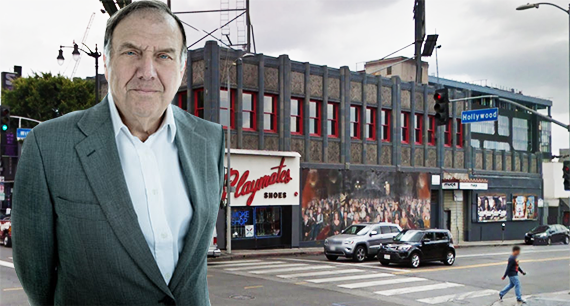 LeFrak CEO Richard LeFrak and the site at 6436 West Hollywood Boulevard
