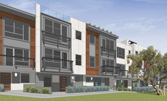 Rendering of LaTerra's Silverlake town homes at 2753 Waverly Drive