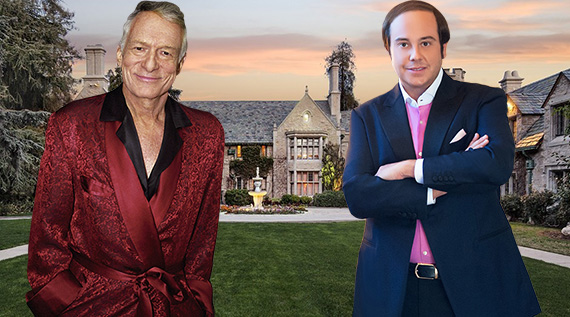 Hefner, Metropoulos and the Playboy Mansion at 10236 Charing Cross Road