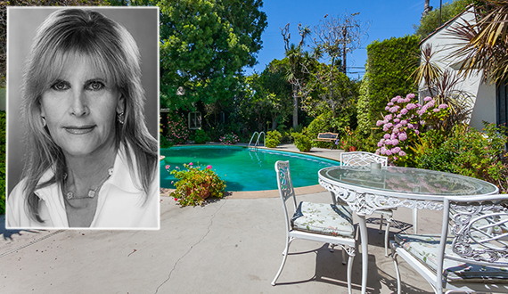 Broker Rochelle Maize and the Beverly Hills flats home at
