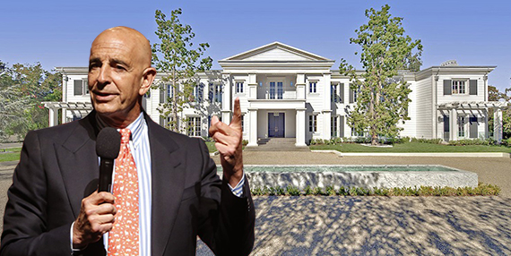 Thomas Barrack Jr. and his Santa Monica home at 1525 San Vicente Boulevard