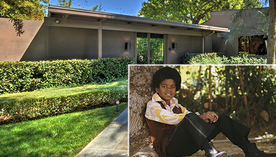 The property at 4620 Rubio (by James Moss) and young Michael Jackson ( by Michael Ochs Archives, via Getty Images)