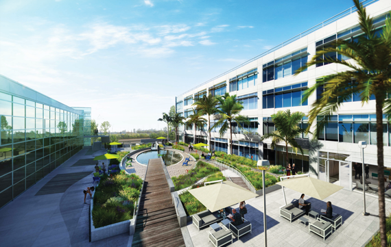 The Water's Edge offi ce campus at 5510 Lincoln Boulevard in Playa Vista