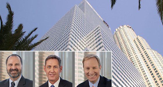 Citigroup Center (via Hines) and, from left: Thomas Ricci, Randall Scott and John Sischo of Coretrust