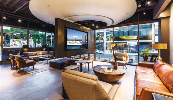 Douglas Elliman's swanky Beverly Hills office, which opened in 2014.