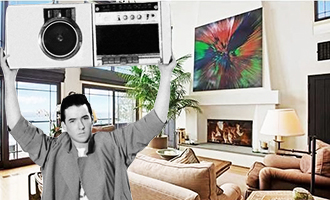 "John Cusack from ""Say Anything"" and the inside of his home on Malibu Road"