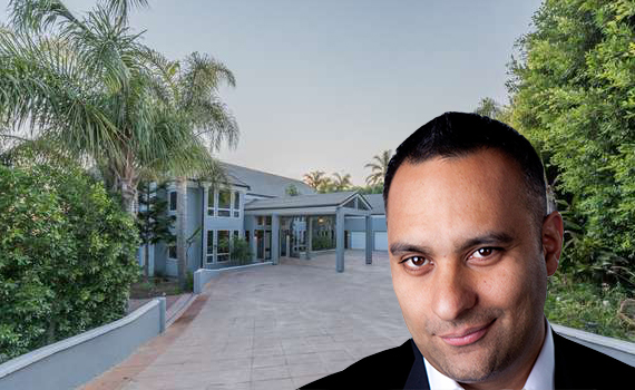 Russell Peters and his Malibu listing at 27551 Pacific Coast Highway