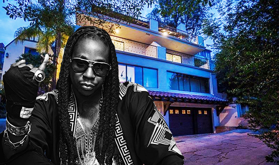2 Chainz and his new home at 5940 Manola Way (Credit: Pinterest, Zillow)