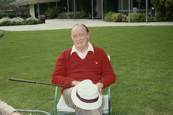 Bob Hope at the property in Toluca Lake (Getty Images)