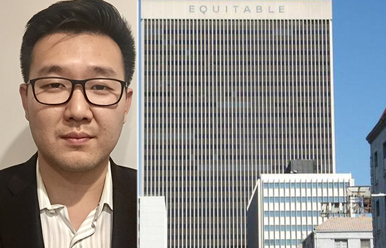 Brian Lee of Jamison Services (courtesy of Lee) and the Equitable Life Building (via Skyscraper City)