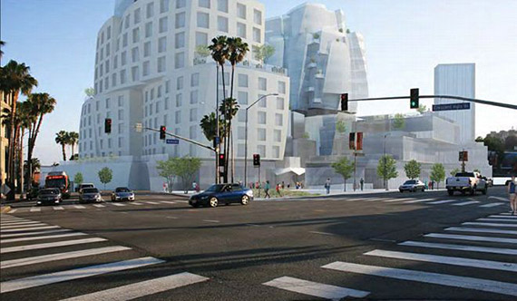 Earlier rendering of the project at 8150 Sunset Boulevard