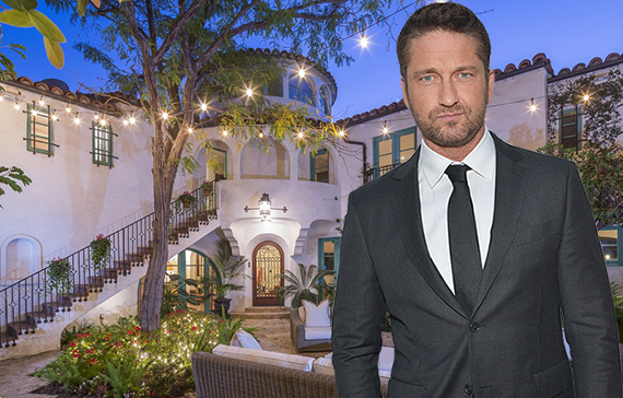 Gerard Butler and his house at 4828 Glencairn Road (Credit: The Agency, Getty)