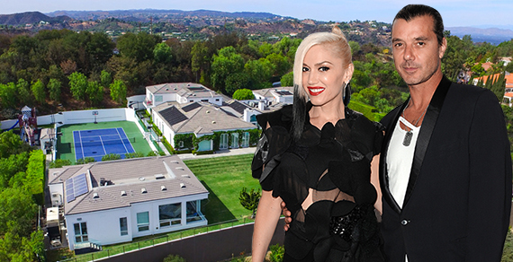 Gwen Stefani, Gavin Rossdale and their home at 11951 Crest Place (Credit: Getty, Westside Estate Agency)