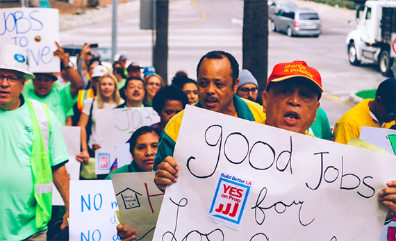 A JJJ demonstration prior to the Nov. 8 vote, when it was approved (Mike Dennis)