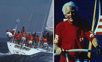 John Kilroy Sr. and his sail boat (Credit: Scuttlebutt Sailing News)
