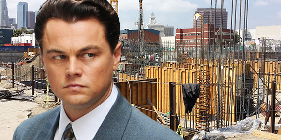 Leonardo DiCaprio and a former construction site in the Arts District (Credit: Crazytown, Wikipedia Commons)
