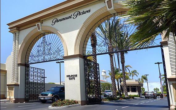 Entrance to Paramount Pictures at 5555 Melrose Avenue (Credit: Seeing Stars)
