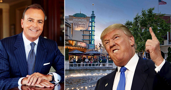 Rick Caruso, Donald Trump and the Grove at 189 The Grove Drive