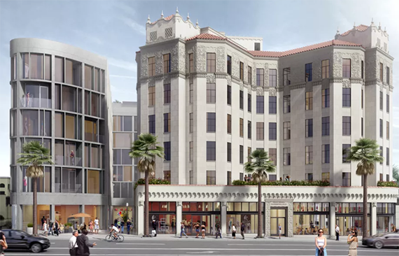 Rendering of the Santa Monica Proper at Seventh and Wilshire (Credit: Howard Laks Architects)